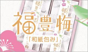 福豊梅「和紙包み」化粧箱入り6粒